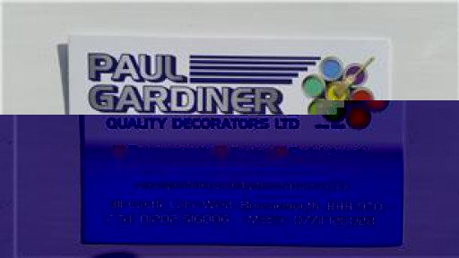 Paul Gardiner Quality Decorators Ltd